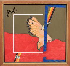 Gilberto Salvador  Bom Dia Dona Borboleta  Óleo s/ tela colada em placa  80 alt X 80 larg (cm)  1977 - ass. no verso