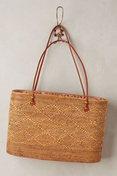 Structured Straw Tote - anthropologie.com