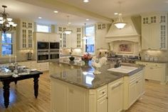 """What a beautiful, spacious kitchen.  From the renovated Queen Anne Victorian from """"The Mary Tyler Moore Show""""!"""