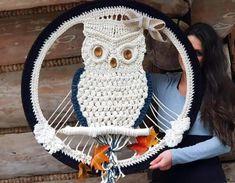 Łapacz snów handmade Sea Colour, Hanging Chair, Dream Catcher, Crochet Hats, Beige, Handmade, Decorating, Knitting Hats, Taupe