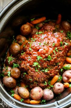 My Easy Crockpot Meatloaf Dinner recipe is the best way to enjoy meatloaf, with less work. The best slow cooker meatloaf, and flavorful vegetables. Slow Cooker Recipes, Crockpot Recipes, Cooking Recipes, Easy Recipes, Dinner Crockpot, Cheap Clean Eating, Clean Eating Snacks, Slow Cooker Meatloaf, Crock Pot Meatloaf