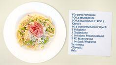 Maccheroni mit Saubohnen und Fenchelsalami