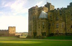 Alnwick Castle, England  ( aka Hogwarts)