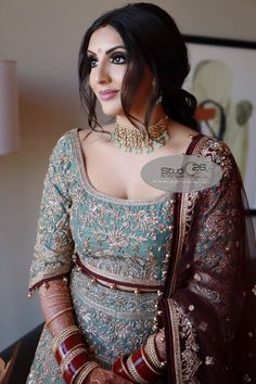 The company was established in 2003 and specializes in Indian Bridal makeup and hair artistry. Indian Bridal Photos, Indian Bridal Makeup, Indian Wedding Bride, Our Wedding, Asian Bride, Hair And Makeup Artist, Bride Look, Bridal Photography, Bollywood Fashion