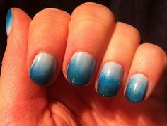 Blue gradient nails by Workaday Ramblings