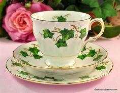 Vintage China, Vintage Tea, Tea Cup Saucer, Tea Cups, Ivy Leaf, High Tea, Tea Set, Bone China, Pottery