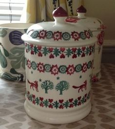 Unboxed Decorative Pottery Jars Date Range Emma Bridgewater Pottery, Living In England, Lid Storage, Dresser Ideas, Tabletop, Jar, Ceramics, Dishes, Tableware