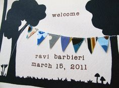 Love the simple design--reminds me of the banner my sister, Jayna, made for my baby!