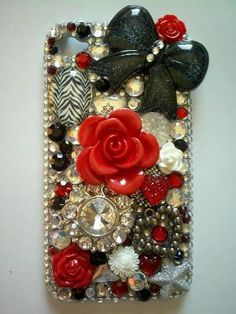 seriusly blinged out phone case..