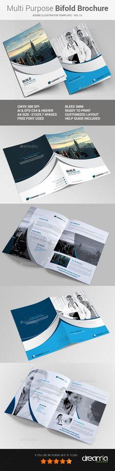 Multipurpose Bi-fold Brochure Vol-13  AI Template • Download ➝ https://graphicriver.net/item/multipurpose-bifold-brochure-vol13/17023062?ref=pxcr