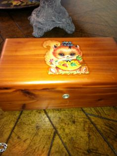 Price Reduced Adorable Vintage Miniature Lane Cedar Hope Chest Box