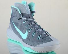 competitive price 10f6c b3641 Nike Hyperdunk 2014 mens lunar basketball shoes NEW dark magnet grey  turquoise