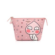 Playing with Kakao Friends Bean Pole x Kakao Collaboration Pink Apeach Pouch  #BEANPOLE #Pouch