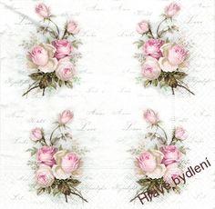 Ubrousek na decoupage - růžičky Sagen love