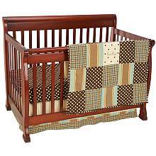 Mad About Plaid 3-Piece Crib Bedding Set - Blue