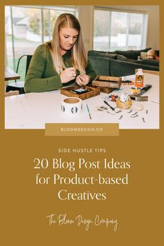 20 Blog Post Ideas for Product-based Creatives | The Bloom Design Company Instagram Marketing Tips, Base, Creative, Bloom, Inspiration, Ideas, Design, Products, Biblical Inspiration