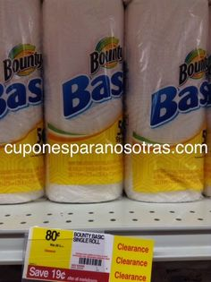 Staples: Bounty Papel Toalla 1 ct a sólo $0.55