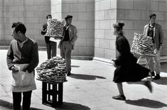Sabine Weiss - Athens.Bread Sellers, 1957