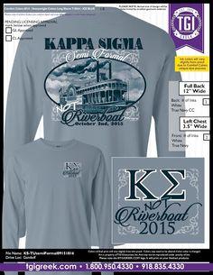 TGI Greek - Kappa Sigma - Formal - Greek T-shirts - Comfort Colors  #tgigreek #kappasigma #formal