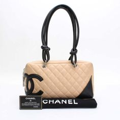 CHANEL Bowling Bag Cambon Shoulder bags Beige Leather A25171