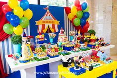 Trendy Baby First Birthday Games Kids Ideas Carnival Baby Showers, Circus Carnival Party, Circus Theme Party, Carnival Birthday Parties, Circus Birthday, Carnival Games, Circus 1st Birthdays, First Birthdays, First Birthday Games