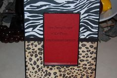 Zebra and Leopard Animal Print Wooden Boutique Picture Frame