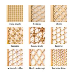– Kumiko Ramma Screen kumiko the exquisitely delicate side of traditional… Japanese Furniture, Japanese Interior, Japanese Design, Japanese Woodworking, Woodworking Projects, Wood Patterns, Textures Patterns, Wood Crafts, Diy And Crafts