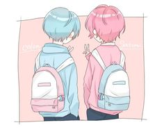 Anime Couples Manga, Cute Anime Couples, Anime Chibi, Kawaii Anime, Cute Boy Drawing, Super Hero Life, K Project Anime, Gothic Artwork, Anime Best Friends