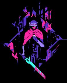 T-shirt design for the highly anticipated Hyper Light Drifter!