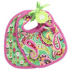 A must-have for meal times: Bib Set in Tutti Frutti, $22 | Vera Bradley