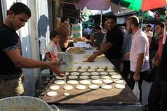Street Food in Ramadan Qatayef, Palestine   - Explore the World with Travel Nerd Nici, one Country at a Time. http://TravelNerdNici.com