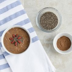 The perfect make ahead breakfast- our Overnight Cacao Chia Pudding! Found within The Avazera 14-Day Detox Program #AZ14Days. Click to get your chia pudding on! #avazera #spring #detox #superfood #natural #organic #digestion #vegan #health #cacao #chiapudding #antioxidants #energy #recipe #breakfast #goodmorning
