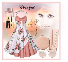 """""""Rosegal vintage dress"""" by callmerose ❤ liked on Polyvore featuring Serpui, Fendi, Burberry, Yves Saint Laurent and vintage"""