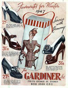 Winter 1947-- Shoes  Joe Gardiner Shoe Store  Australia