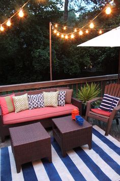 Deck party decor ideas. #deckparty #diy #homedecor