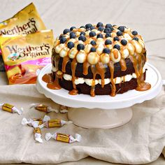Caramels, Birthday Cake, Desserts, Food, Birthday Cakes, Postres, Deserts, Hoods, Meals