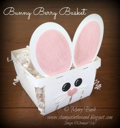 Stampin& in the Sand: Honeycomb Bunny Butts Part 1 With Stampin& Up! Easter Candy, Hoppy Easter, Easter Treats, Craft Stick Crafts, Paper Crafts, Craft Ideas, Homemade Easter Baskets, Basket Crafts, Berry Baskets