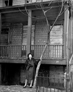 "Betty Smith, in front of the Williamsburg home that inspired ""A Tree Grows in Brooklyn"""