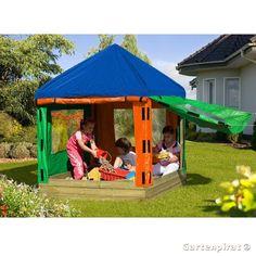 Sandkasten TONI aus Holz mit Pavillon von Gartenpirat®: Amazon.de: Spielzeug