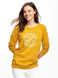 relaxed french-terry sweatshirt