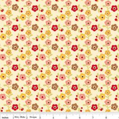 Multi Color Red Pink and Mustard Farmhouse by RaspberryCreekFabric, $6.75
