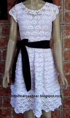 Marcinha crochet: crochet dress with charts