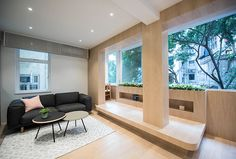 Hong Kong Apartment Studio Prove Small Can Still be Beautiful - InteriorZine Condo Interior Design, Small Apartment Design, Apartment Interior, Small Apartments, Japanese Tea House, Villa, Elegant Sofa, Smart Design, Modern House Design