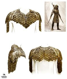 ArtStation - The Hobbit - Hero Elves, WETA WORKSHOP DESIGN STUDIO Fantasy Armor, Medieval Fantasy, Costume Armour, Armor Clothing, Armadura Medieval, Workshop Design, Leather Armor, Armor Concept, Thranduil