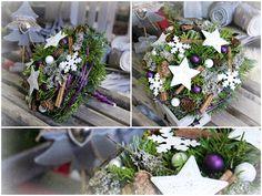 Vánoční kytice do fialova #christmas #flower #purple #arrangement #decoration