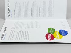 A minimal approach to information layout made sure the Google in Education leaflet communicated effectively.