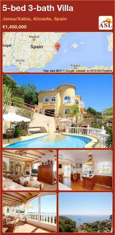 5-bed 3-bath Villa in Javea/Xabia, Alicante, Spain ►€1,450,000 #PropertyForSaleInSpain