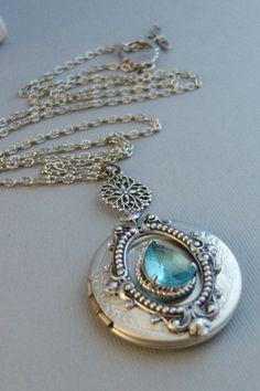 Best Birthday Gift Sterling Silver Rhodium Plated Dia /& Aquamarine Oval Pendant