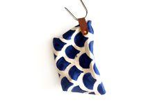 Navy teardrop pouch by Soet /  Soet stationery