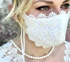 Lace Mask, Fashion Face Mask, French Lace, Bridal Lace, Mask Making, Mask Design, Wedding Sets, Diy Face Mask, Bridal Accessories